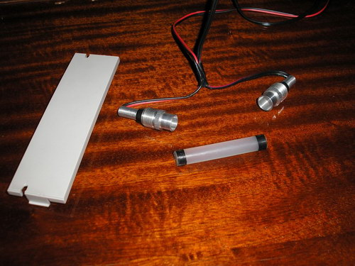 Концы световода обмотаны изолентой