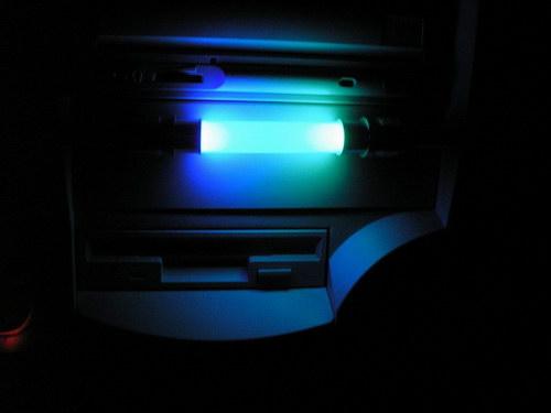 Вид заглушки на корпусе в темноте