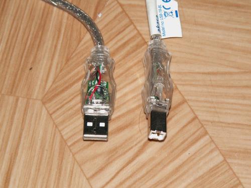 Прозрачный USB кабель с подсветкой