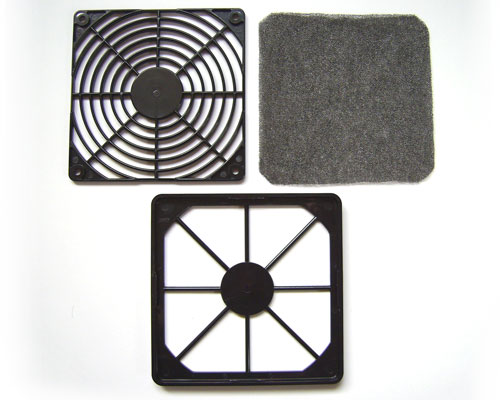 A disassembled Akasa Fan Filter