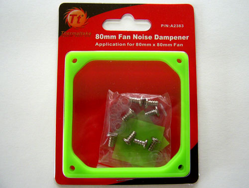 Packaging of the Thermaltake Fan Noise Dampener for 80 mm case fan