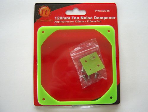 Packaging of the Thermaltake Fan Noise Dampener for 120 mm case fan