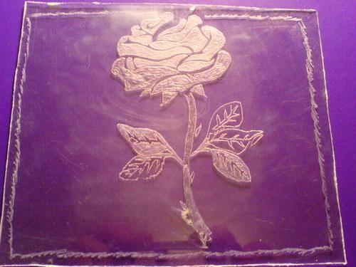Цветок — еще один пример тени с заливкой