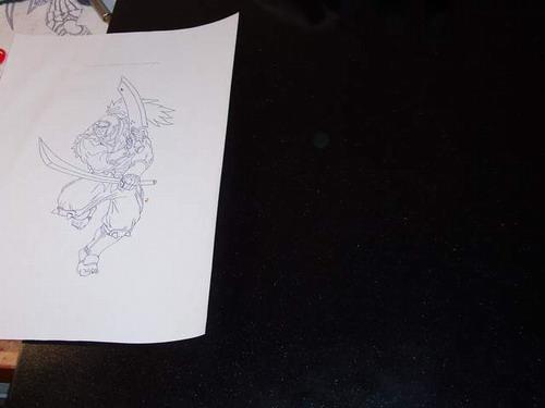 Отпечатанный рисунок для гравировки