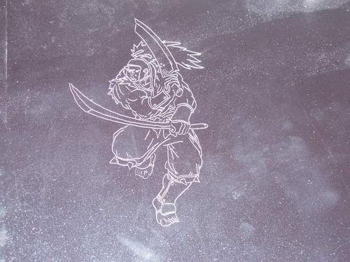 Первый вариант гравировки на металле