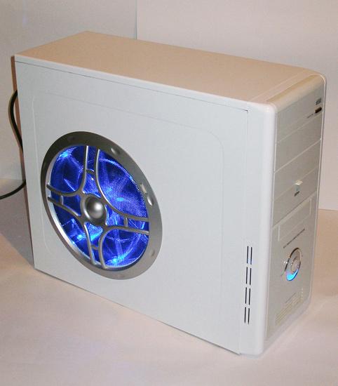 Работа подсветки в вентиляторе Globefan 220mm Blue LED