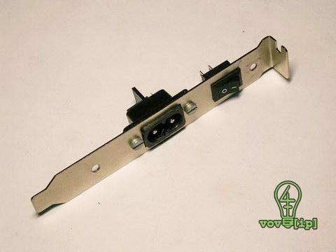 Заглушка с установленными выключателем и разъемом