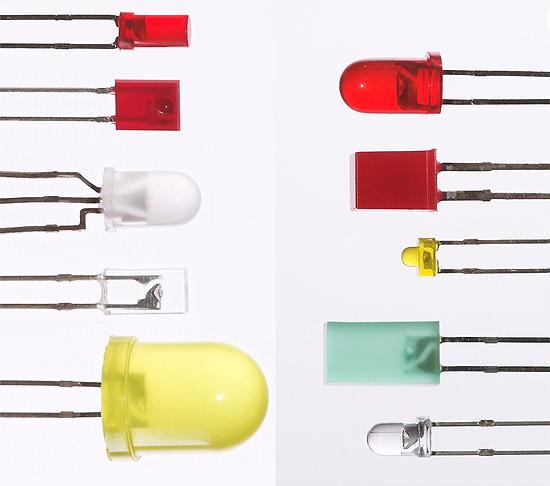 Светодиоды различной формы и цвета