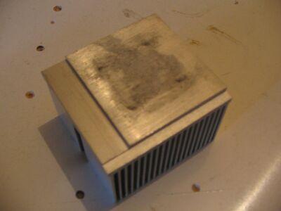 Основание алюминиевого радиатора