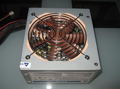 Собранный БП с новым вентилятором Noctua
