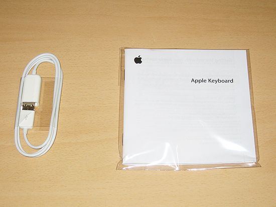 Accessories that come with the Apple Keyboard