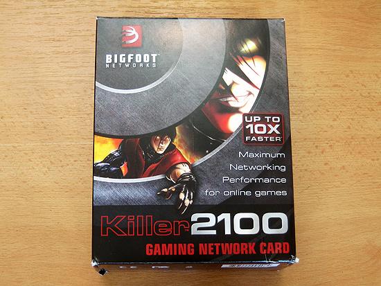 Общий вид упаковки сетевой карты Bigfoot Networks Killer 2100