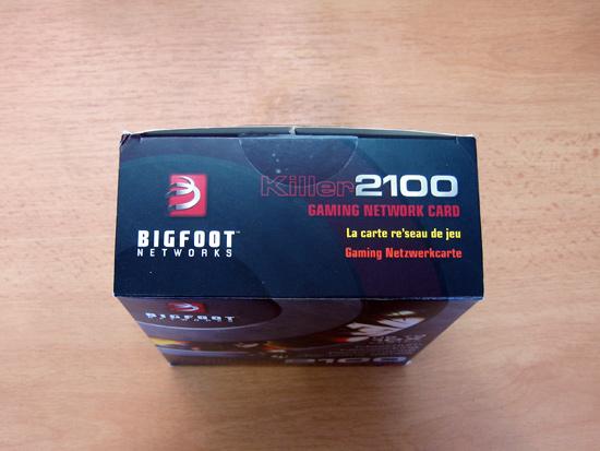 Верхняя часть упаковки Bigfoot Networks Killer 2100
