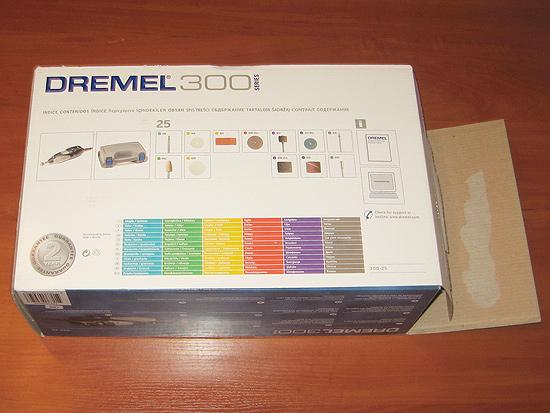 Упаковка DREMEL 300 Series (300-25), вид сзади