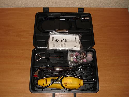 Чемоданчик с инструментом в открытом состоянии