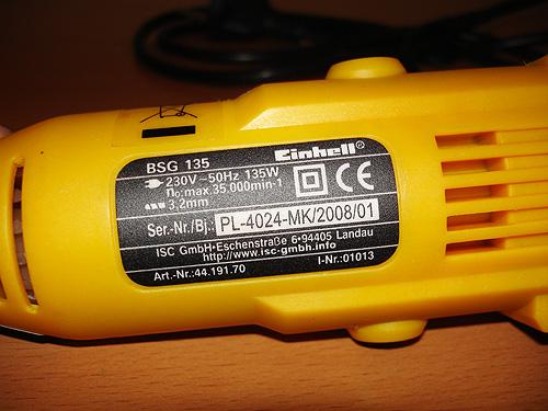 Технические характеристики Einhell BSG135
