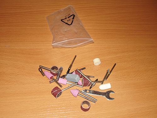 Полиэтиленовый пакетик с насадками