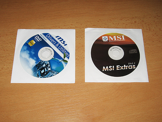 Диски с программным обеспечением для материнской платы MSI X58 Pro
