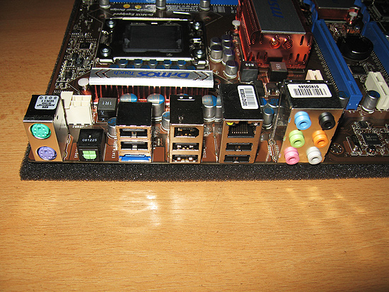Разъемы на задней панели MSI X58 Pro