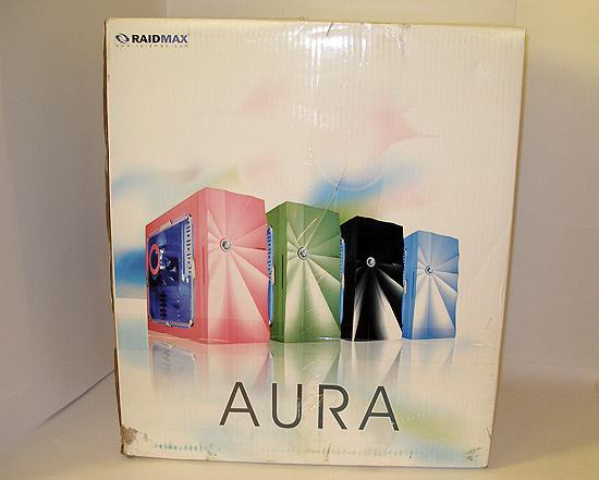 Вид спереди на коробку Raidmax Aura