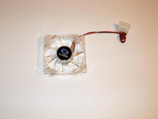 Прозрачный 80 мм вентилятор для боковой стенки