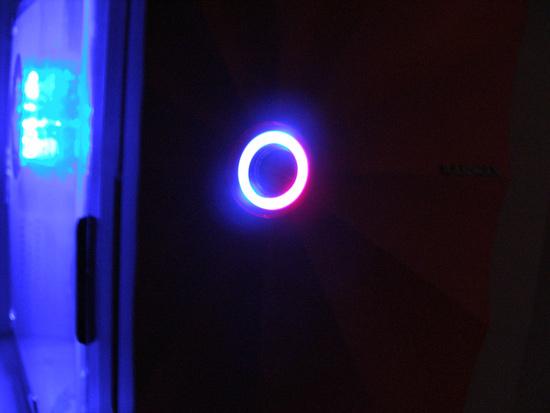 Свечение кнопки на передней панели