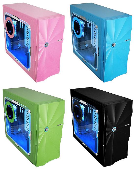 Доступные цветовые варианты корпуса Raidmax Aura