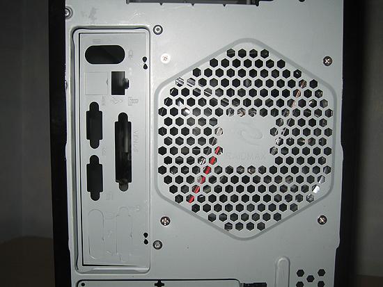 Панель с разъемами материнской платы и решетка для 120 мм вентилятора