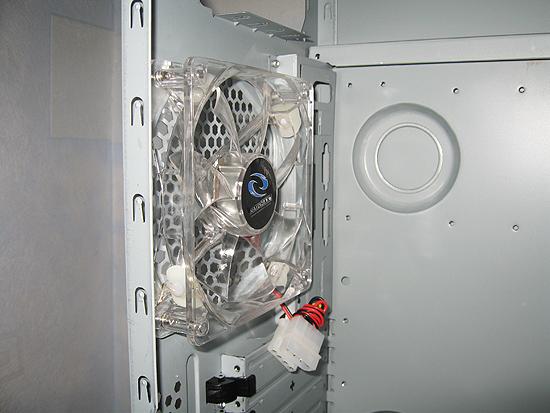 Прозрачный 120 мм вентилятор с синей светодиодной подсветкой