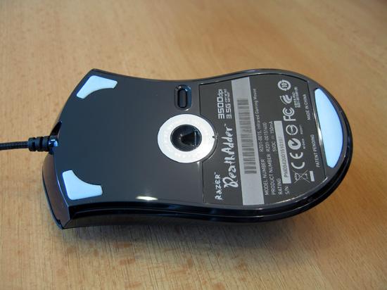Нижняя часть мыши с кнопкой переключения профилей