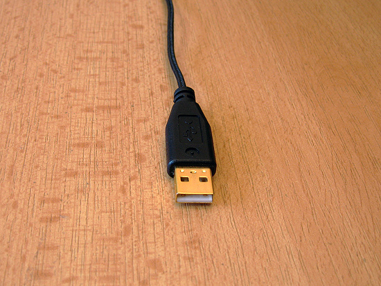 Штекер USB разъема позолочен