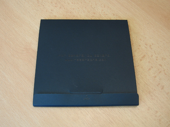 Обратная сторона конверта с полиграфическими материалами