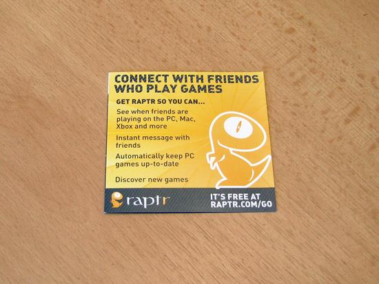 Рекламная брошюра социального сервиса Raptr для геймеров
