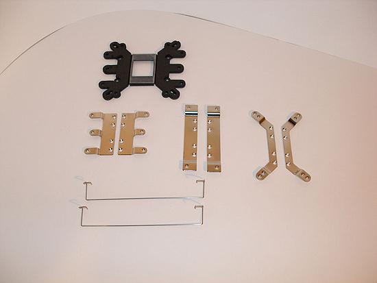 Крепления для радиатора и вентилятора