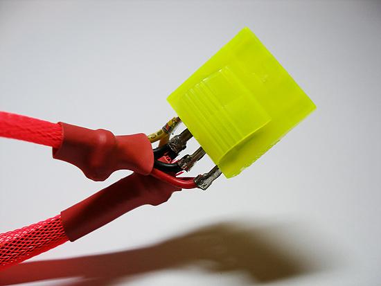 Примерка нового цветного молекс разъема