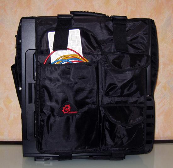 Корпус, упакованный в Sunbeam Lan Party Bag, вид справа