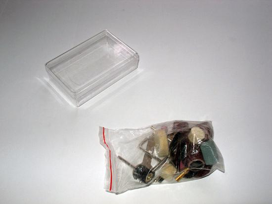 Коробочка для насадок и насадки в пакетике