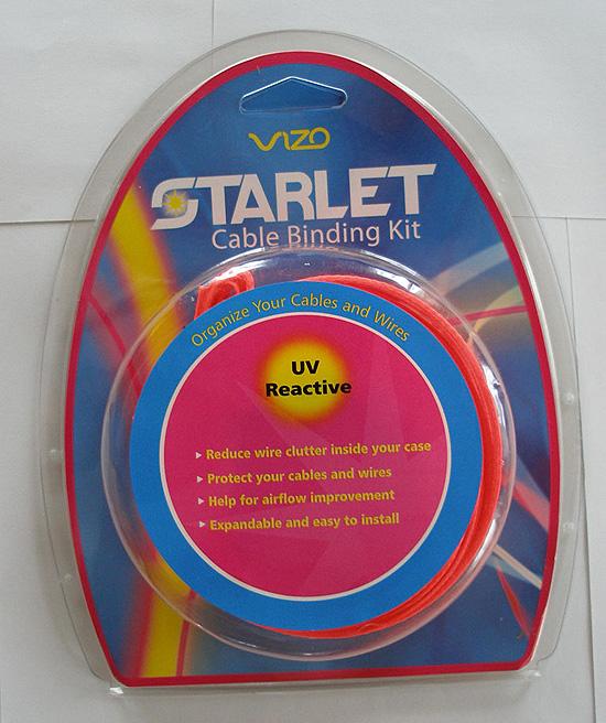 Вид спереди на упаковку Vizo Starlet Cable Binding Kit