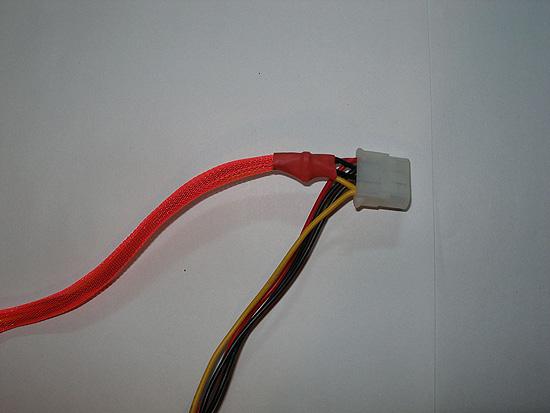 Фиксируем отрезок оплетки стяжкой и закрываем ее термоусадкой