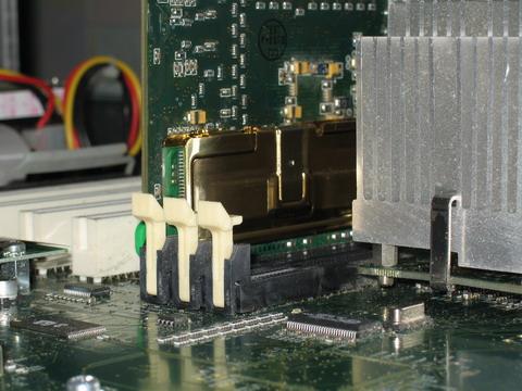 Модуль памяти, установленный в компьютере