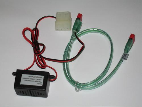 Зеленый SATA кабель с инвертором