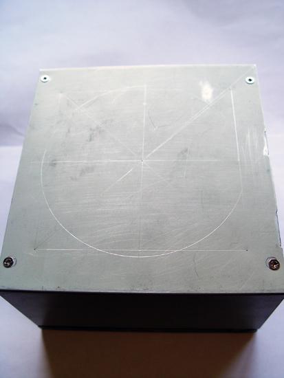 Разметка крышки БП под установку вентилятора