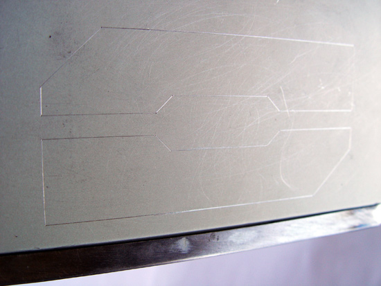 Разметка боковой части под установку окошек