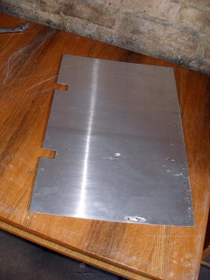 Алюминиевая пластина, которая будет дном корпуса