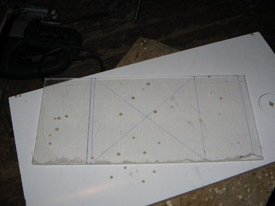 Размеченная заготовка для крышки БП