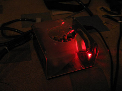Вид сбоку на БП с подсветкой