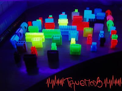 Свечение разъемов в лучах ультрафиолета