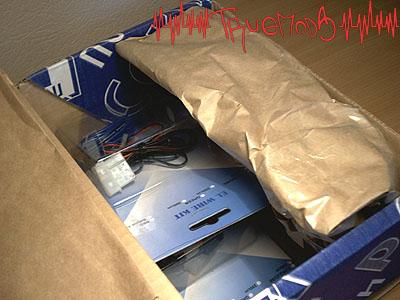 Вскрытие коробки с неоновыми шнурами