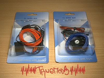 Два неоновых шнура El Wire Kit от Mitron Interlink