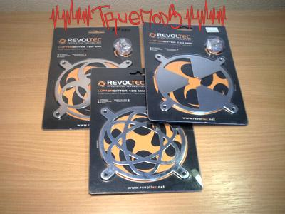 Три разновидности решеток Revoltec Fangrill 120 mm